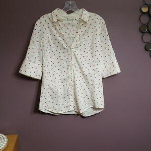 Ladybug Button-Up Blouse